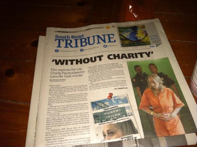 Front Page on The South Bend Tribune